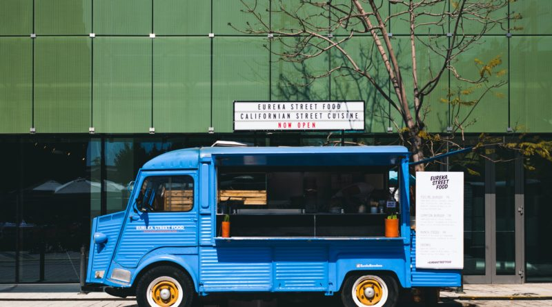 Food Truck using mobile ordering app